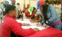 Venezuela beginnt die Unterschriftensammlung zum Protest gegen USA