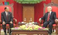 KPV-Generalsekretär Nguyen Phu Trong empfängt kambodschanischen Parlamentspräsident