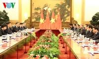 Staatspräsident Truong Tan Sang trifft chinesischen Staatspräsidenten Xi Jinping