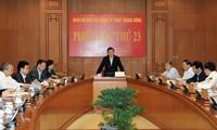 Staatspräsident Truong Tan Sang leitet Sitzung der Zentralabteilung für Justizreform