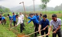 Jugendliche in Yen Bai engagieren sich für Neugestaltung ländlicher Räume