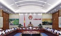 Eröffnung der Regierungssitzung im April 2016