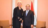 Premierminister Nguyen Xuan Phuc bei Treffen am Rande des erweiterten G7-Gipfels