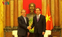 Staatspräsident empfängt den ehemaligen chilenischen Präsidenten Eduardo Frei Ruiz-Tagle
