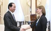 Staatspräsident Tran Dai Quang trifft Israels Botschafterin Meirav Eilon Shahar