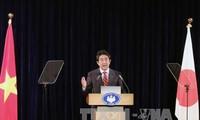 Pressekonferenz des japanischen Premierministers in Hanoi