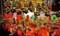 Traditionelles Neujahrsfest Tet in der Altstadt Hanoi