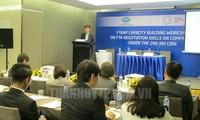 Austausch von Verhandlungenstaktiken über die Konkurrenz in der FTA