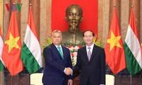 Staatspräsident Tran Dai Quang empfängt den ungarischen Premierminister Orbán Viktor