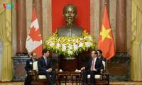 Staatspräsident Tran Dai Quang empfängt den kanadischen Premierminister