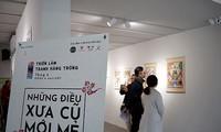 Ausstellung der Hang Trong-Bilder: alte und neue Geschichte