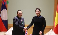 Parlamentspräsidentin Nguyen Thi Kim Ngan empfängt den laotischen Vizeparlamentspräsidenten
