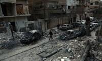 Russland beschuldigt die Rebellen in Syrien, einen Giftgasangriff zu planen