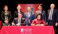 Premierminister Nguyen Xuan Phuc führt Gespräch mit Studenten der Universität von Waikato