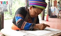 Kunst der Schaffung von Mustern auf traditionellen Trachten der Mong