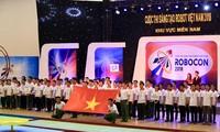 Eröffnung der Finalrunde des Roboter-Wettbewerbs  2018 in Vietnam