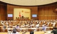 Erwartung der Abgeordneten bei der 5. Sitzung des Parlaments