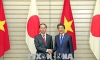 Staatspräsident Tran Dai Quang führt Gespräch mit Premierminister Shinzo Abe