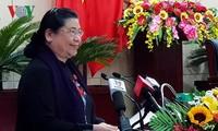 Vizeparlamentspräsidentin Tong Thi Phong nimmt an der Sitzung des Volksrats der Stadt Da Nang teil