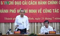 Ho Chi Minh Stadt verstärkt Verwaltungsreform für die Zufriedenheit der Bewohner