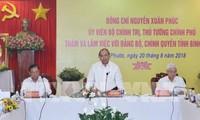 Premierminister Nguyen Xuan Phuc tagt mit Leitern der Provinz Binh Phuoc