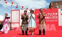 Lebendiges vietnamesisches Fest im Japanischen Kanagawa