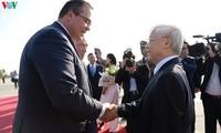 KPV-Generalsekretär Nguyen Phu Trong beginnt Besuch in Ungarn
