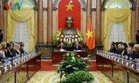 Staatspräsident Tran Dai Quang empfängt die Leiter der ASOSAI-Delegationen