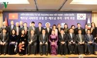 Parlamentspräsidenten Vietnams und Südkoreas nehmen am Investitions- und Handelsforum beider Länder teil