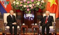 KPV-Generalsekretär Nguyen Phu Trong empfängt den kambodschanischen König