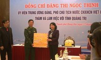 Vizestaatspräsidentin Dang Thi Ngoc Thinh nimmt an Tagung der Provinz Quang Tri teil