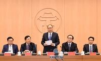 Sitzung über Pilotprojekt zum Management nach dem Modell der Stadtadministration von Hanoi