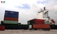 Internationales Containerschiff in Thanh Hoa