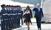 US-Präsident Donald Trump beginnt den Staatsbesuch in Großbritannien