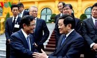 ประธานประเทศให้การต้อนรับคณะกรรมการร่วมมือเศรษฐกิจญี่ปุ่น-เวียดนาม