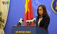 เวียดนามคัดค้านและเรียกร้องให้ฝ่ายจีนยุติการปรับสภาพของหมู่เกาะเจื่องซา