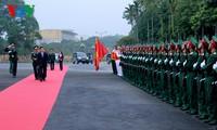 ประธานประเทศเยือนกองทัพน้อยที่1และกองบัญชาการทหารจ.นินบิ่งห์