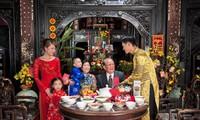 ครอบครัวเวียดนามกับวันสุดท้ายของปีเก่า
