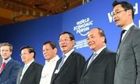 นายกฯเหงวียนซวนฟุกกล่าวปราศรัยในนัดเปิดประชุม WEF-ASEAN 2017