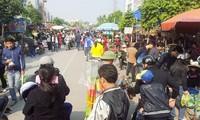 ตลาดนัด ห่าง ที่เมืองไฮฟองช่วงใกล้ตรุษเต๊ตประเพณี