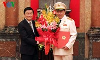 President Sang urges police force to help defend legitimate rights of the state and people