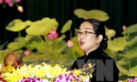 Vo Thi Dung, Chairwoman of HCM city's Fatherland Front