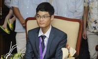 Vu Xuan Trung, a young talent in mathematics in Thai Binh
