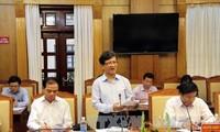 越南国会常委会和国家选举委员会检查监督团与头顿市选举委员会座谈