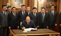 越南党和国家高级代表团悼念泰国国王