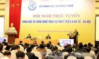 阮春福出席科技服务经济社会发展视频会议