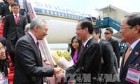 越南政府副总理郑庭勇与新加坡总理李显龙主持丰树商业中心开业仪式