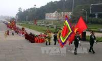 2017年雄王庙会的开幕活动