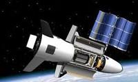 """美国军用无人太空飞行器""""X37B""""返回美国加利福尼亚州肯尼迪航天中心"""