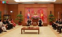 越南国会主席阮氏金银会见柬埔寨参议院代表团
